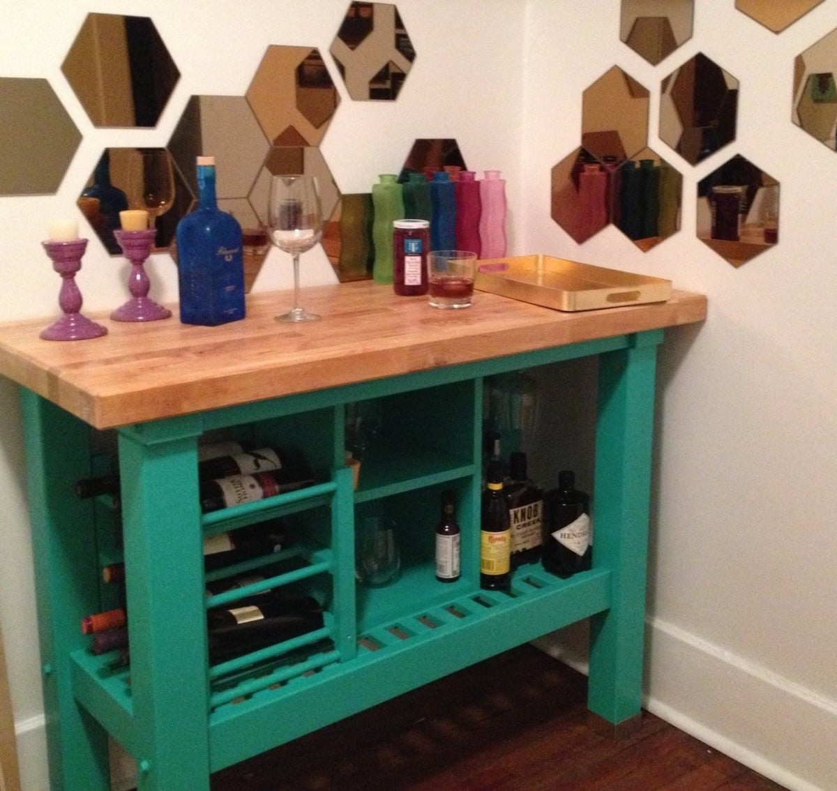 Ikea Hacks Kitchen Island Kitchen Island Turned Custom Bar Ikea Hackers Ikea Hackers