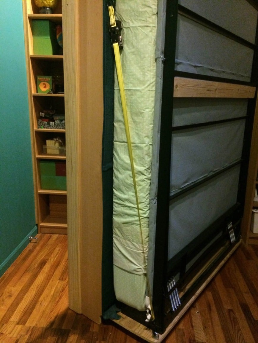 billy bookcases transform into murphy bed ikea hackers. Black Bedroom Furniture Sets. Home Design Ideas
