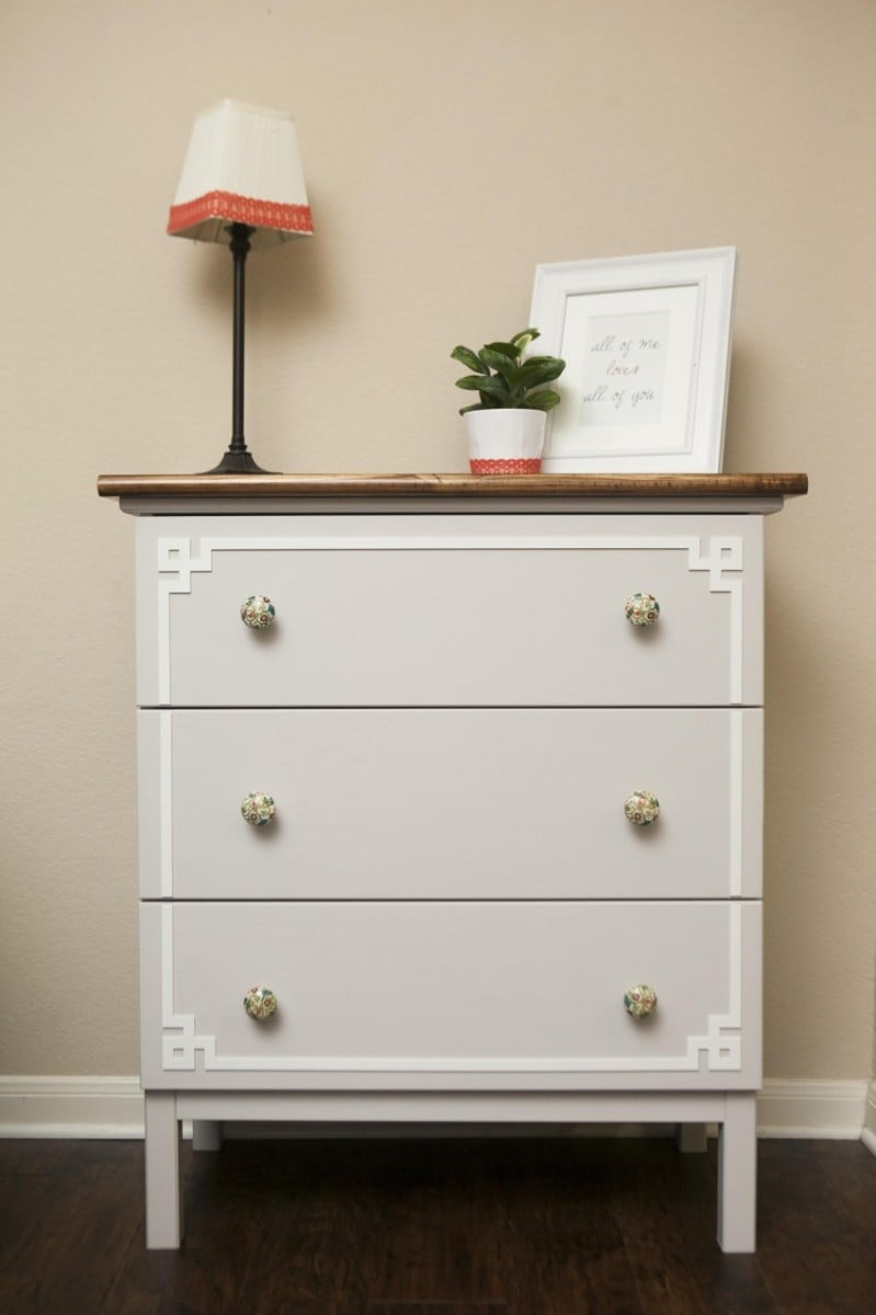 Tarva dresser all dressed up in 3 easy steps ikea Ikea hacking