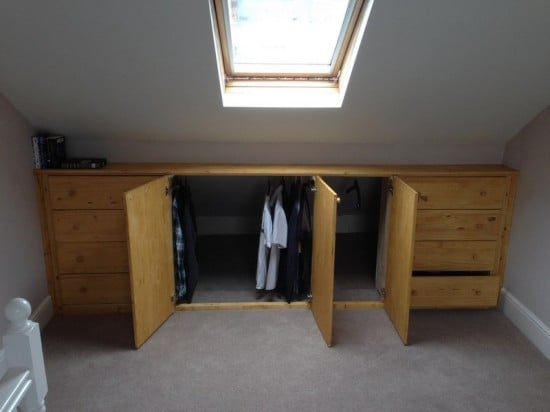 ikea ideas hacks for attic bedroom - Under eaves storage TARVA hack IKEA Hackers IKEA Hackers