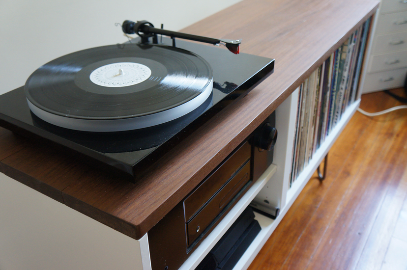 Modern Credenza Ikea : Mid century modern record console ikea hackers