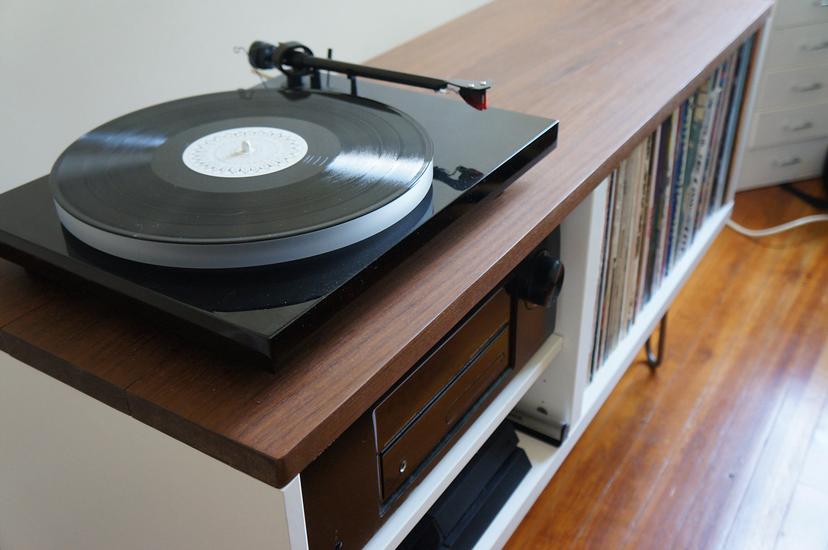 Mid Century Credenza Ikea Hack : Mid century modern record console ikea hackers