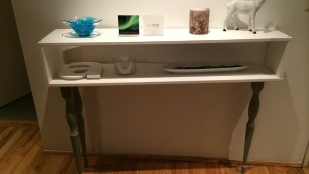 Console table with 3 legs outstanding ikea hackers - Table console murale ...