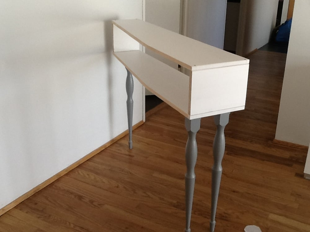 Console Table With 3 Legs Outstanding Ikea Hackers