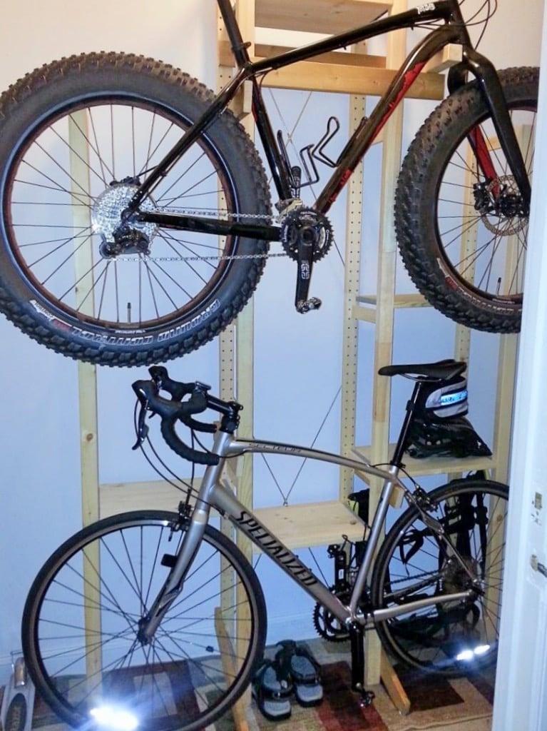 ivar bike rack shelves