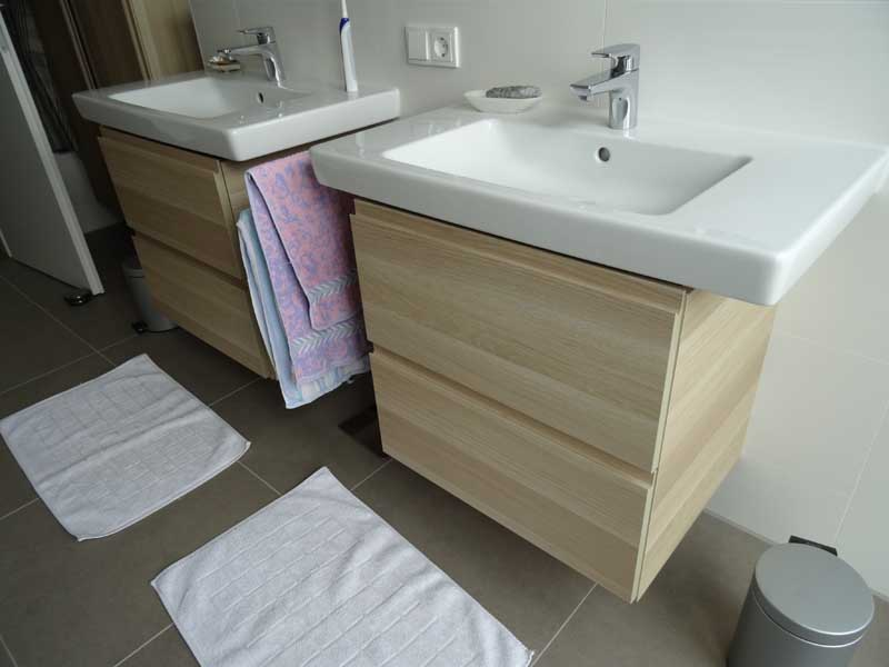 How to use godmorgon cabs with non ikea wash basins ikea for Salle de bain hemnes