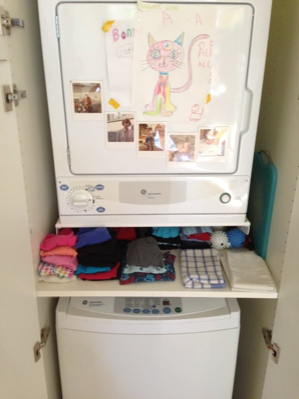 Final Result Hiding Stackable Top Load Washer Dryer In