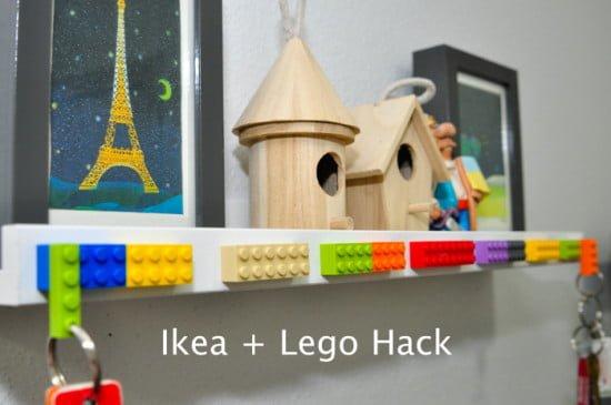 Ikea Photo Ledge + Lego-1-1