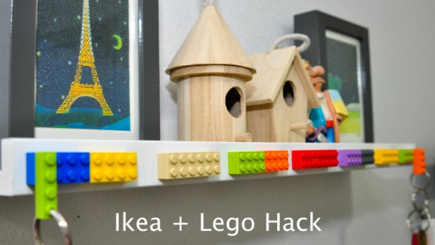 Ikea Photo Ledge + Lego-1-1