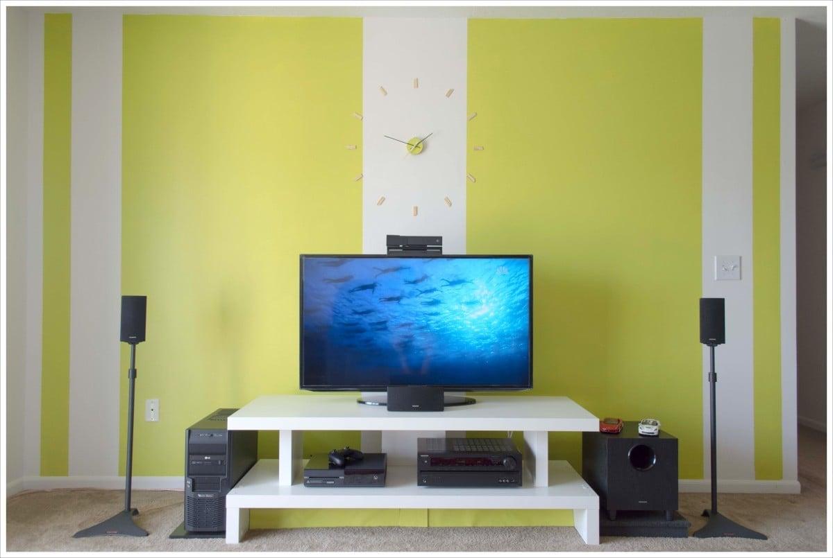 Contemporary Tv Unit Improvising With Lack Ikea