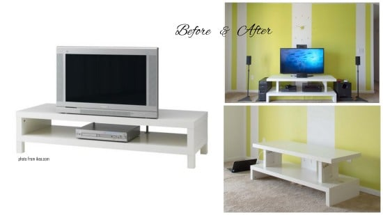 contemporary tv unit improvising with lack ikea hackers ikea hackers. Black Bedroom Furniture Sets. Home Design Ideas