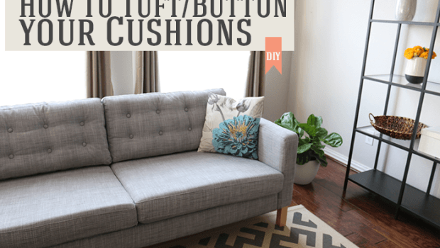 howtobuttonyourcushions 620x350 How to tuft/button your cushions