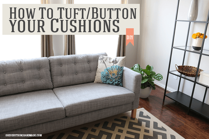 How To Tuft Button Your Cushions Ikea Hackers
