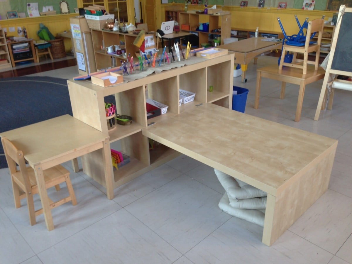 Expedit Preschool Childrenu0026#39;s Table + Shelving - IKEA Hackers - IKEA Hackers
