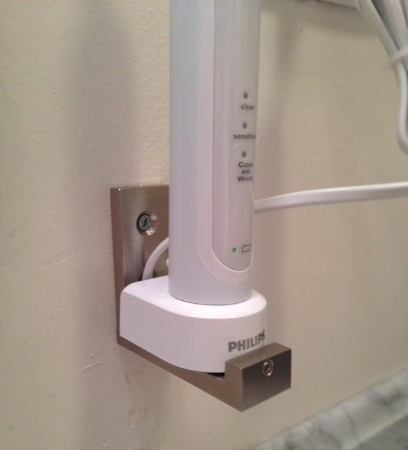 ikea hack 3. Teeny Tiny Little Shelf for Electric Toothbrush   IKEA Hackers