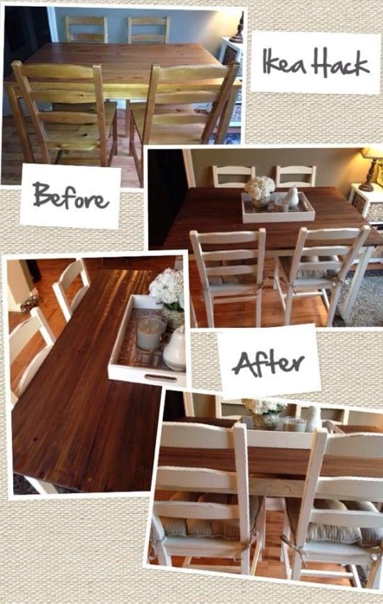 Barn Board Table Set Ikea Hackers