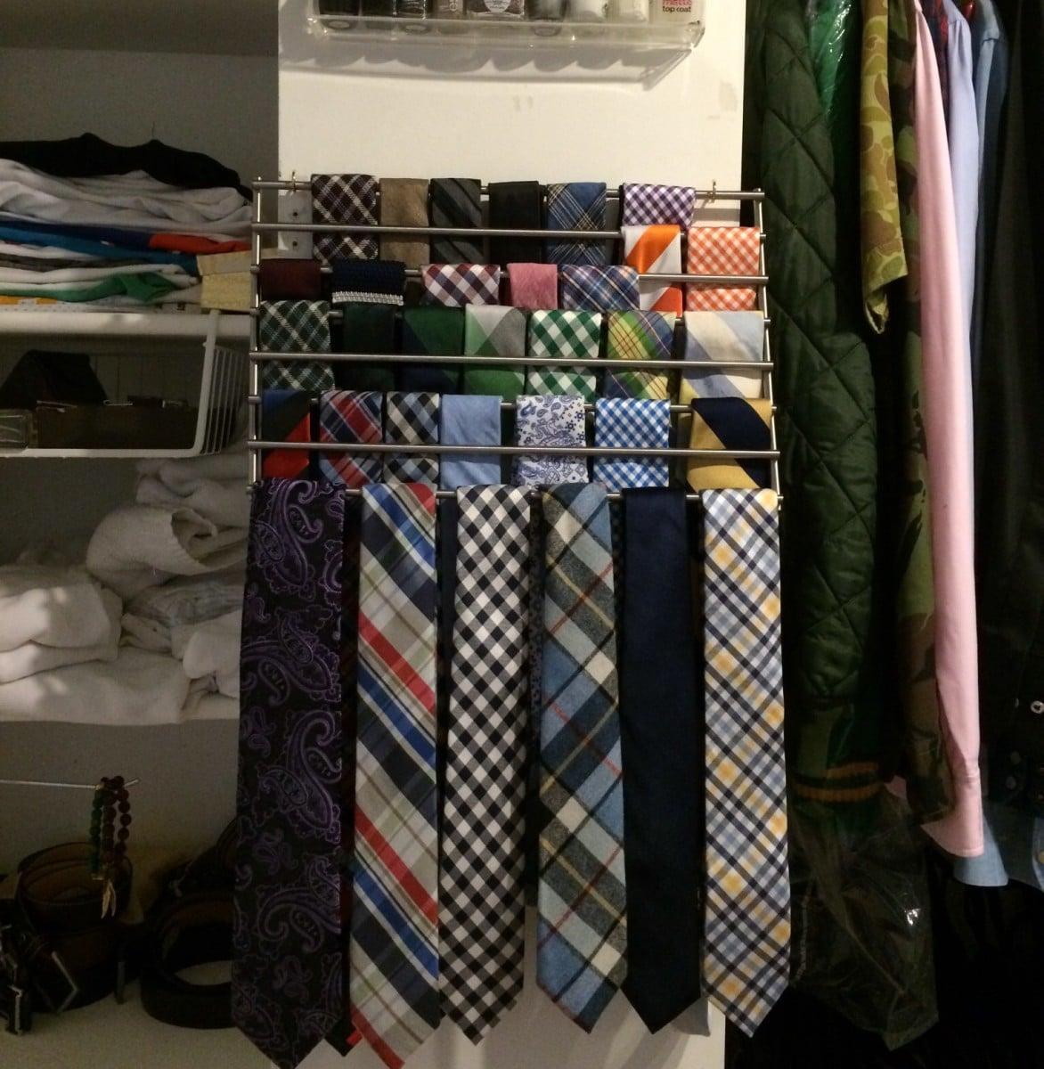 Lamplig Trivet Into Tie Rack Ikea Hackers Ikea Hackers