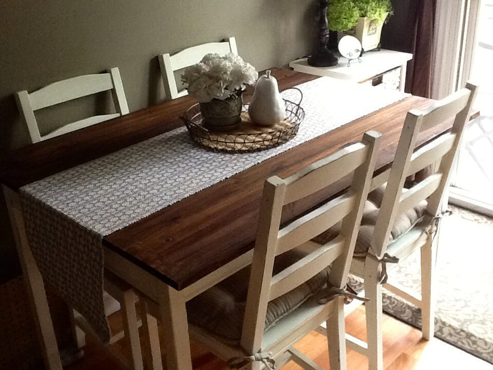 Barn Board Table Set Ikea Hackers
