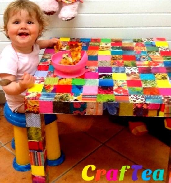 www.craftea.ie DIY Decoupage IKEA Hack on Lack Side Table
