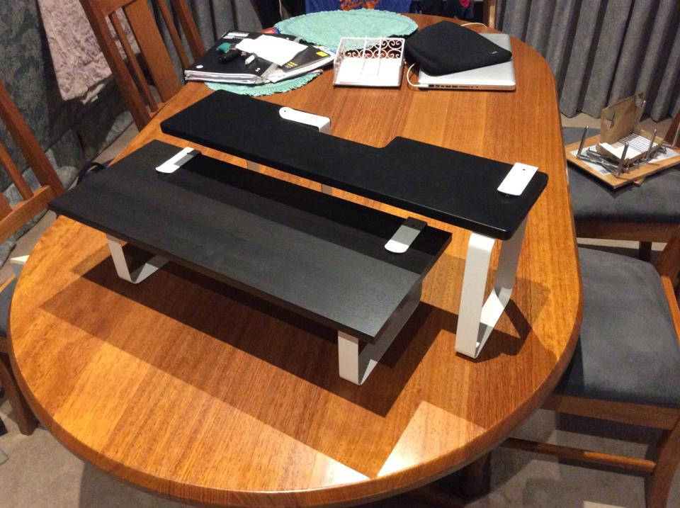 monitor stand from kvissle bookends ikea hackers. Black Bedroom Furniture Sets. Home Design Ideas