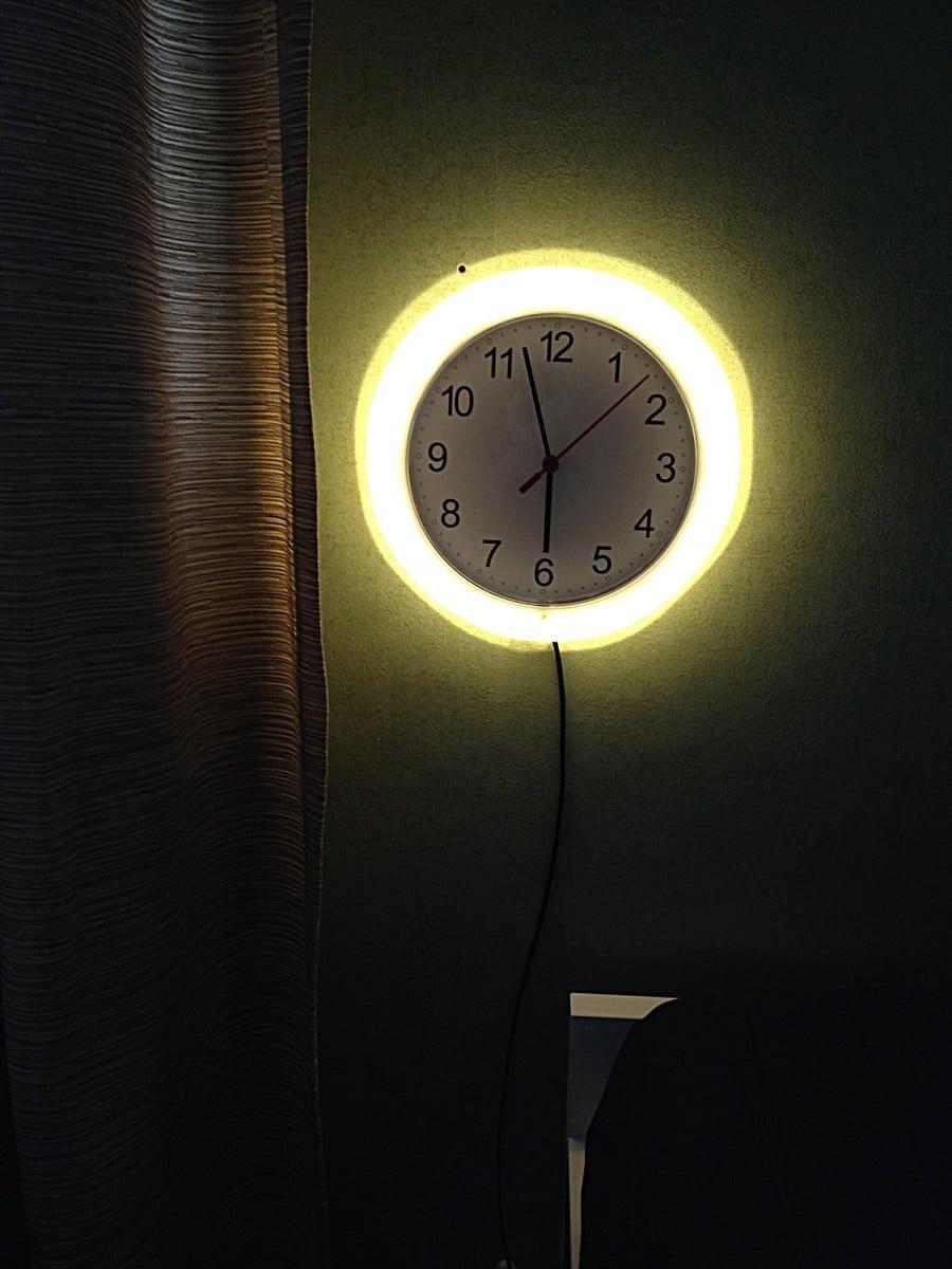 Rusch Clock Wall Lamp Ikea Hackers Ikea Hackers