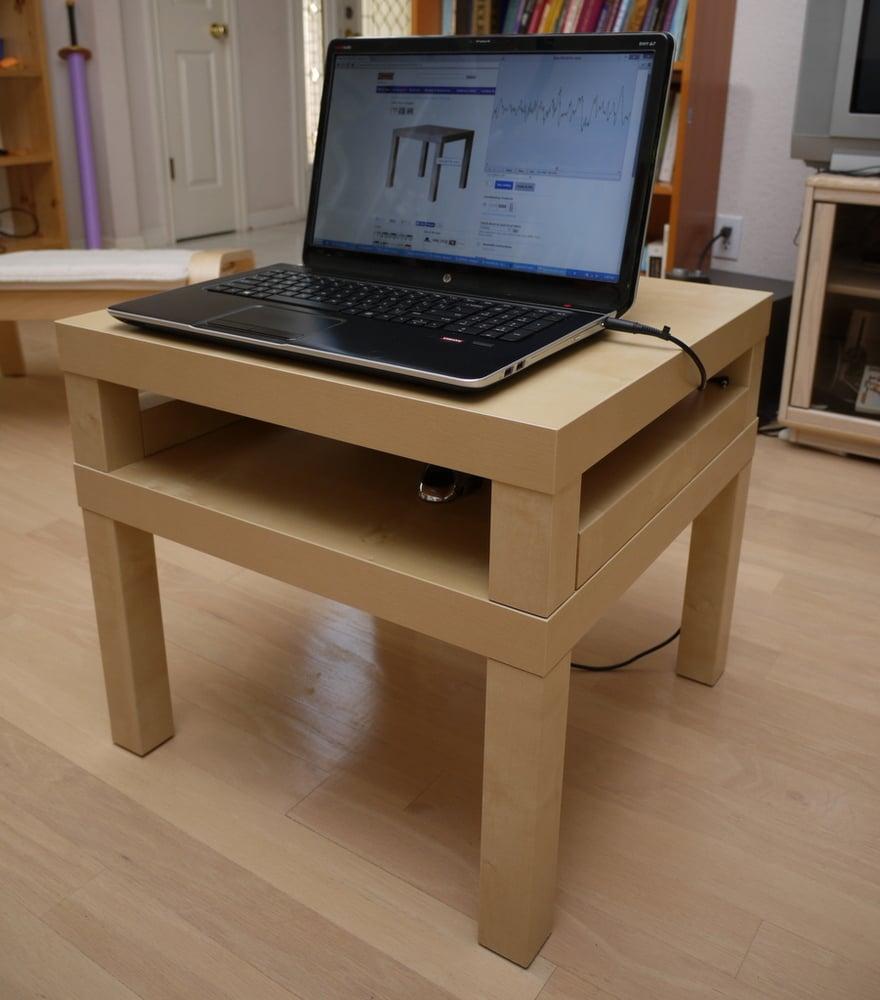 Double lack laptop table ikea hackers - Ikea table lack ...