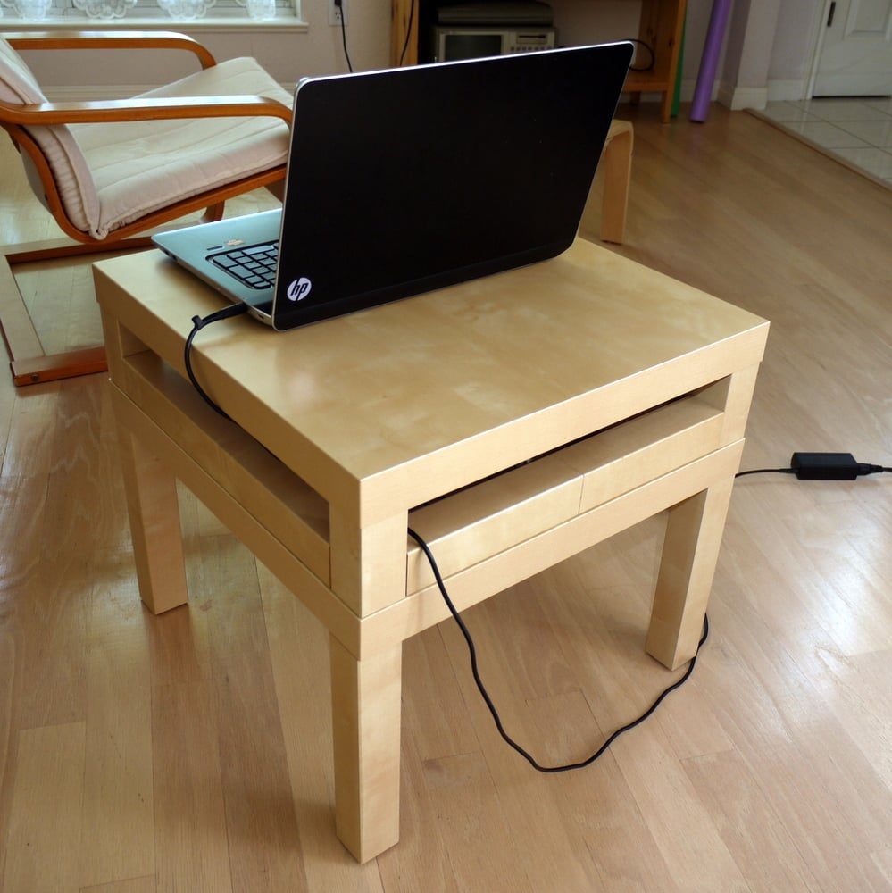 Double lack laptop table ikea hackers ikea hackers - Table basse lack ikea ...