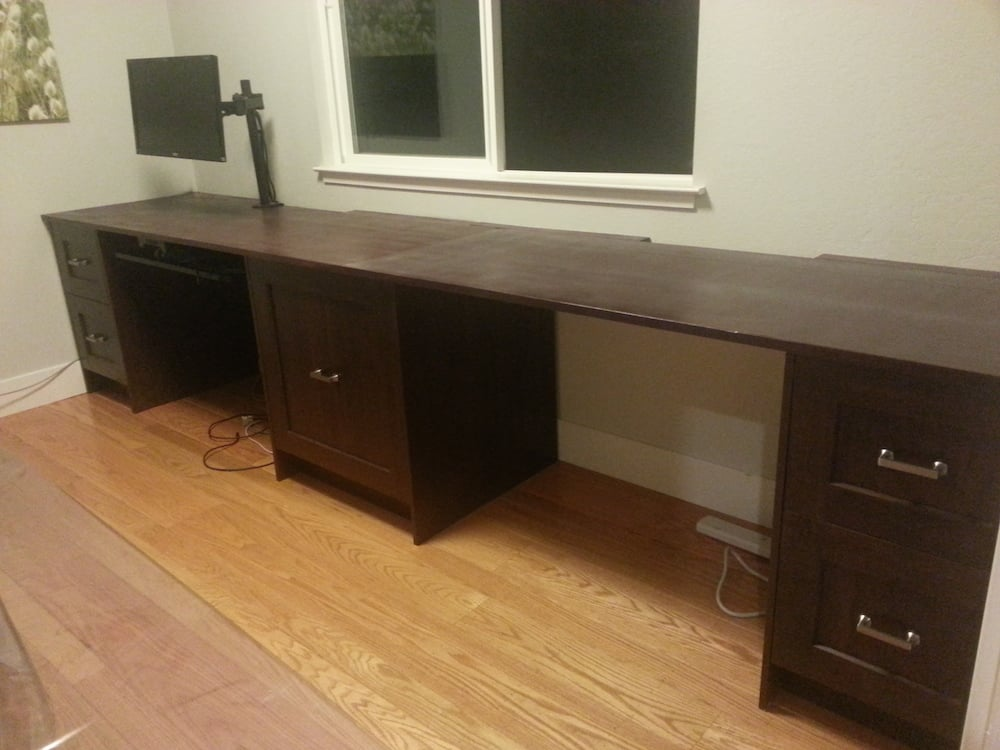 Built In Home Office Using Perfekt Rockhammar Kitchen Cabinets
