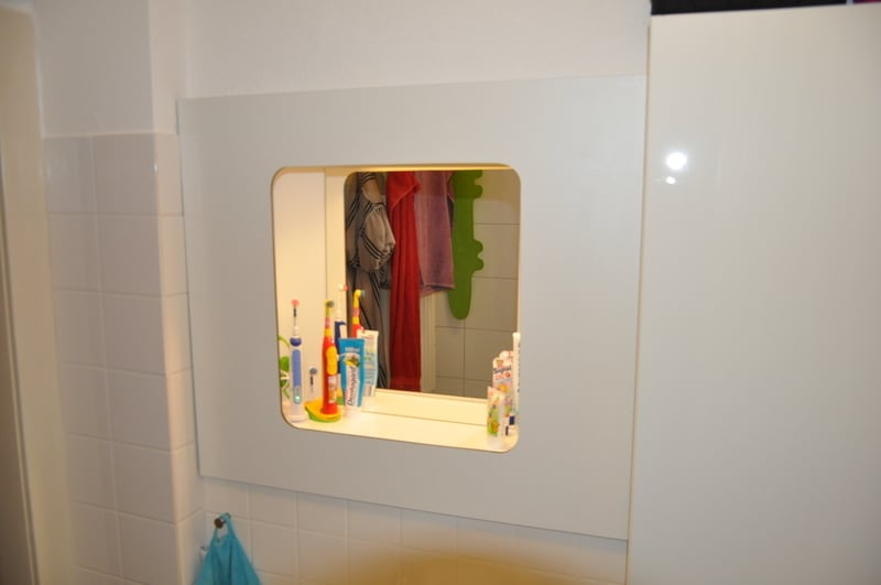 new bathroom cabinet to replace hole in the wall ikea hackers ikea