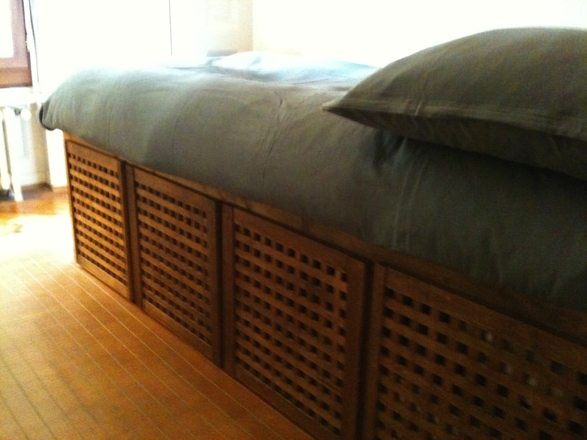 Marvelous Turning a HOL side table into a single bed with drawers