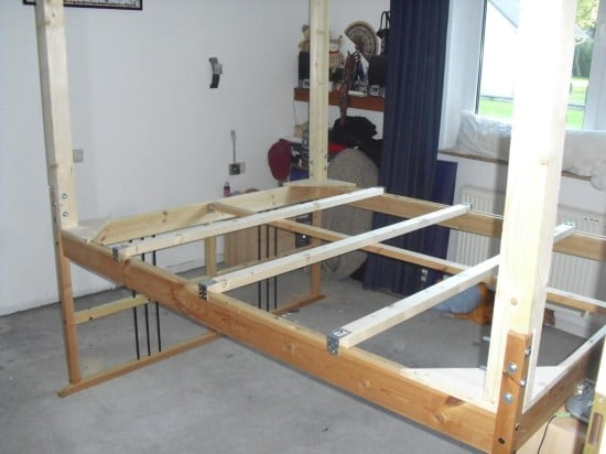 Making a loft bed from the dalselv ikea hackers ikea hackers - Structure futon ikea ...