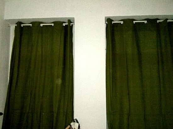 Hanging Curtains Without Drilling With Ore Shower Curtain Rod Ikea Hackers Ikea Hackers
