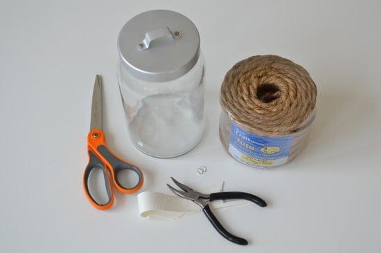Weekend Project Rope Jar Lanterns IKEA Hackers