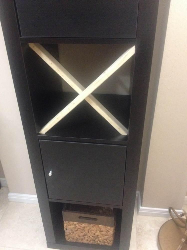 Easy x shelf for expedit bar ikea hackers ikea hackers for Ikea expedit 2 x 1