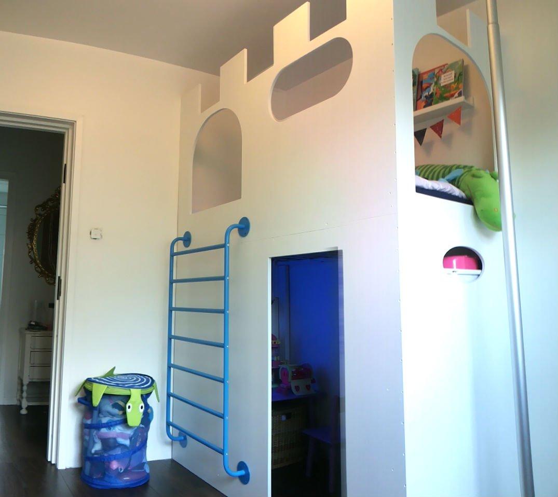 castle playhouse loft bed ikea hackers ikea hackers. Black Bedroom Furniture Sets. Home Design Ideas