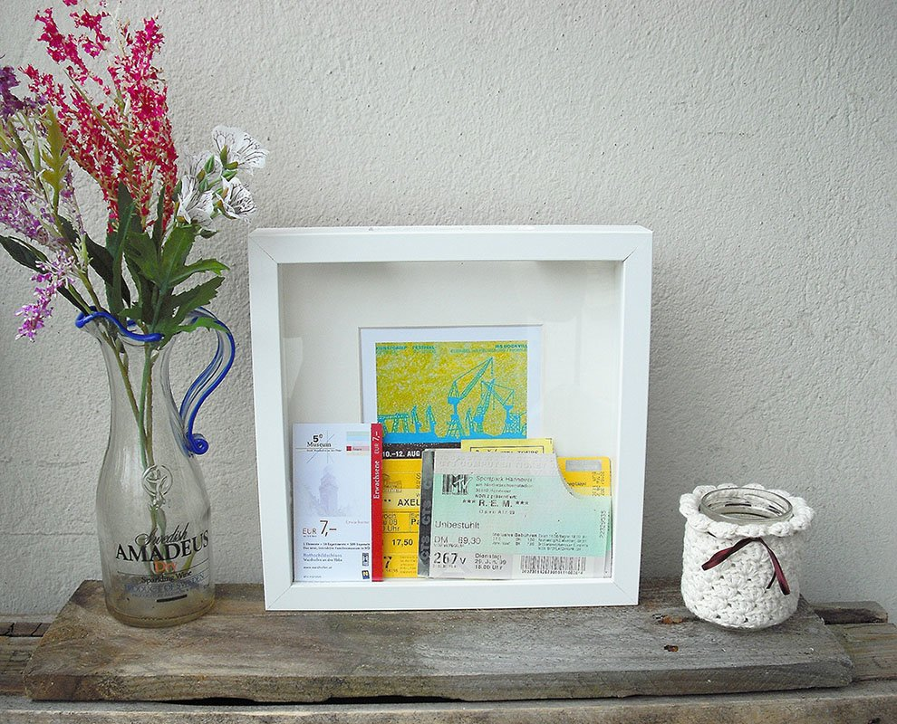 Memory box for ticket stubs - IKEA Hackers