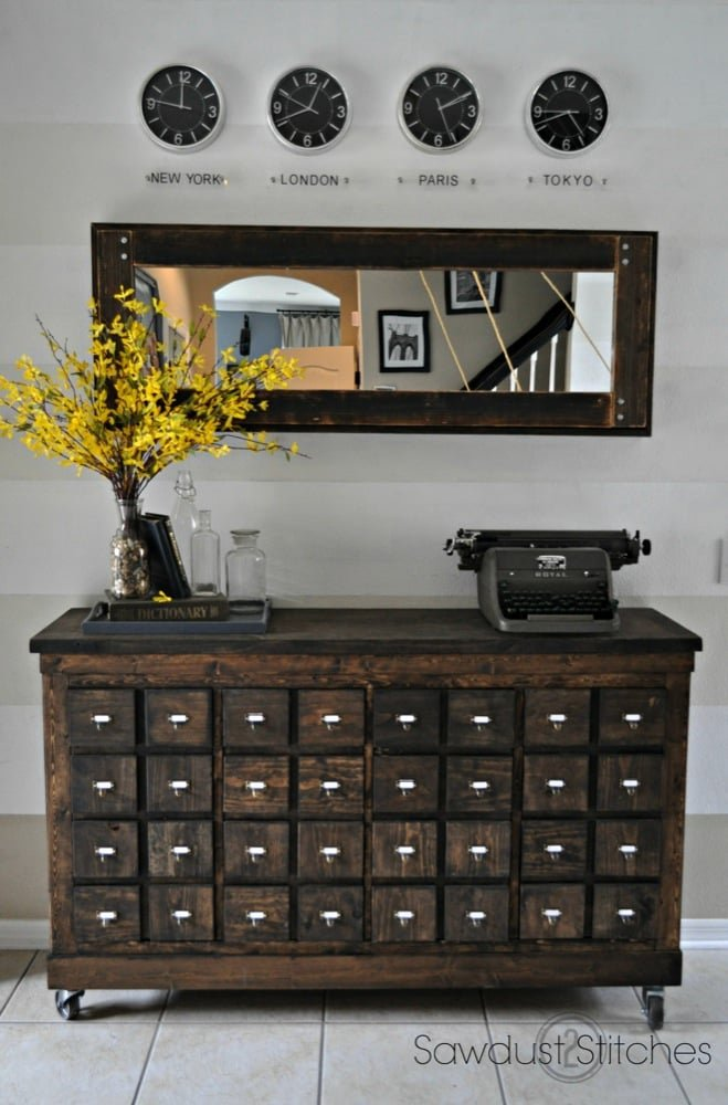 Expedit Into Card Catalog Apothecary Cabinet Ikea Hackers