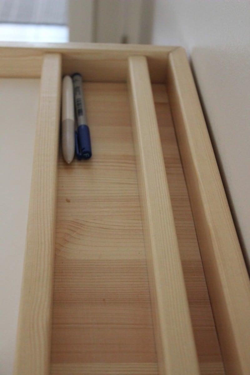 An Artist Desk With Paper Storage Ikea Hackers Ikea