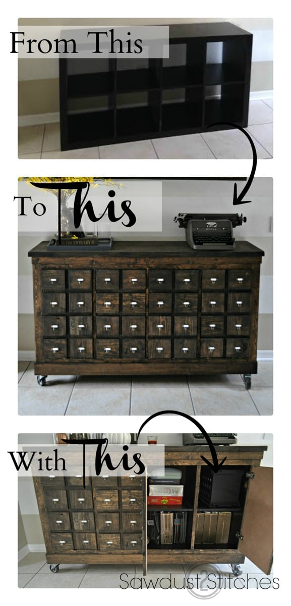 expedit into card catalog apothecary cabinet ikea hackers. Black Bedroom Furniture Sets. Home Design Ideas