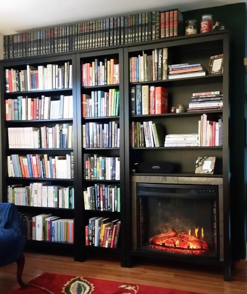 Bookshelf Or Fireplace I Couldn T Decide Ikea Hackers
