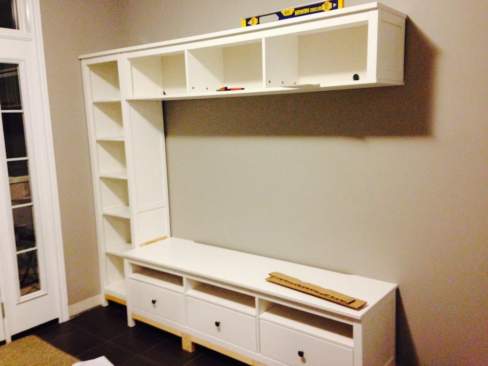 Hemnes entryway hack ikea hackers ikea hackers Entryway bench ikea