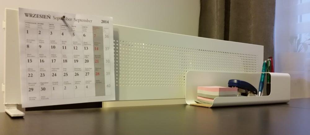 Magnetic Board On The Desk Ikea Hackers