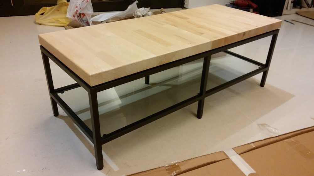 Contemporary Wooden Top Tv Bench Ikea Hackers