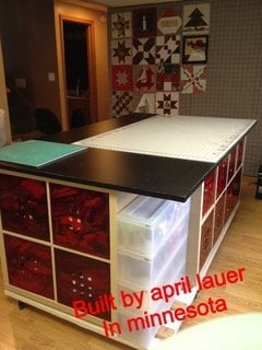 Quilting Cutting Table Island On Wheels