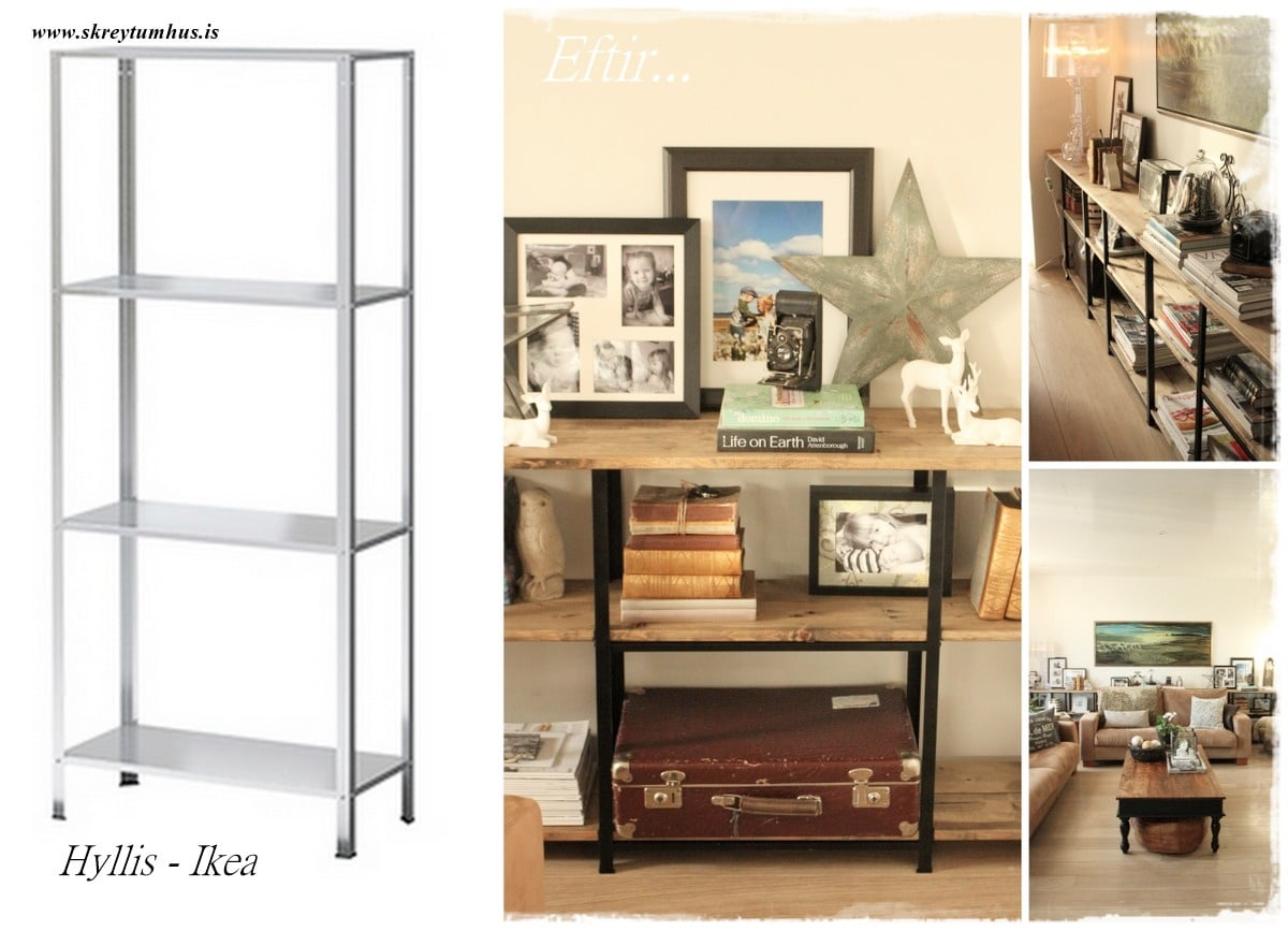 hyllis all the way for industrial looking shelves ikea. Black Bedroom Furniture Sets. Home Design Ideas