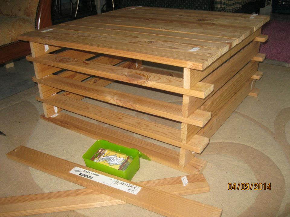 from bed slats to coffee table to bookcase - ikea hackers - ikea