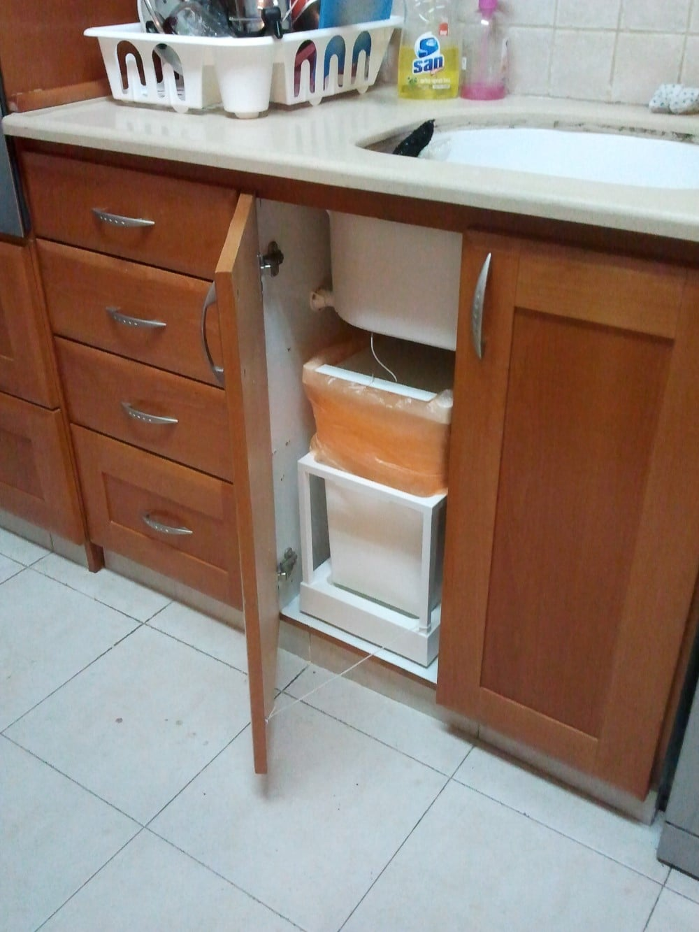 Automatic Kitchen Trash Can Ikea Hack