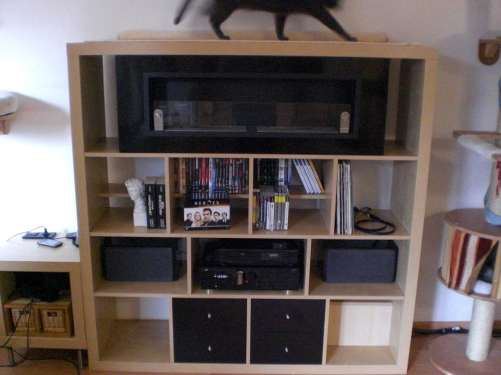 Expedit Kallax 4 4 With Ethanol Fireplace Ikea Hackers Bloglovin  # Kallax Separateur Piece