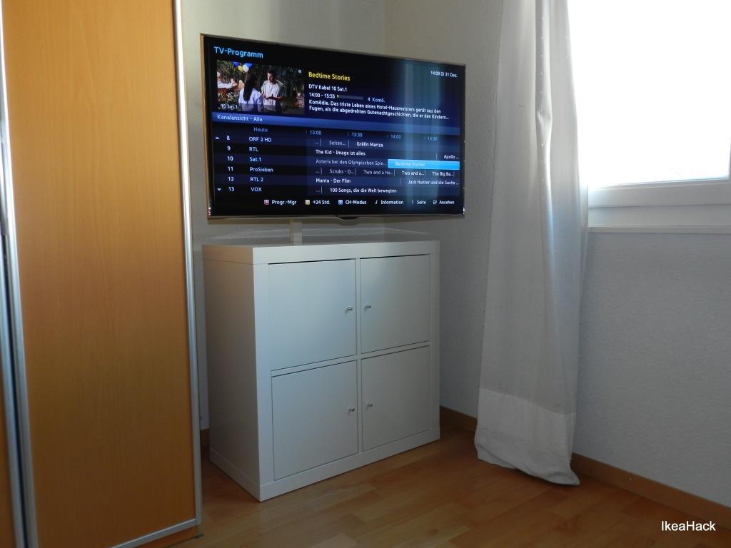 Ikea Vitrine Norden ~  KALLAX beefed up as TV & Media Furniture  IKEA Hackers  IKEA Hackers