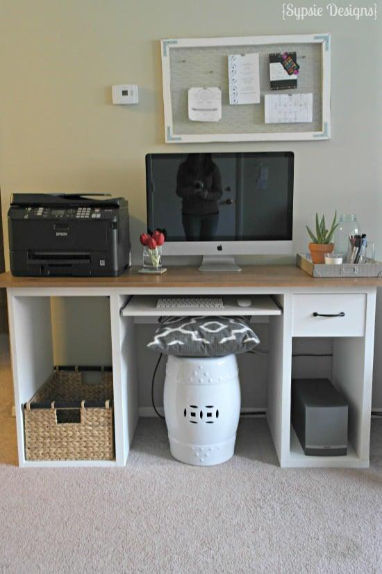 Inspirational IKEA Hack to Rustic Desk Sypsie Designs